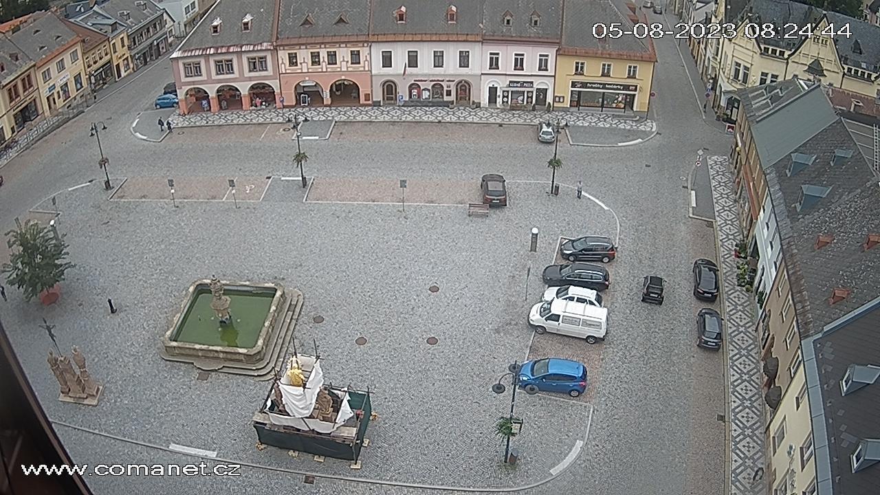 Jilemnice náměstí - obnovení 60s